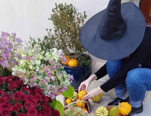 décoration entrée automne exptérieur