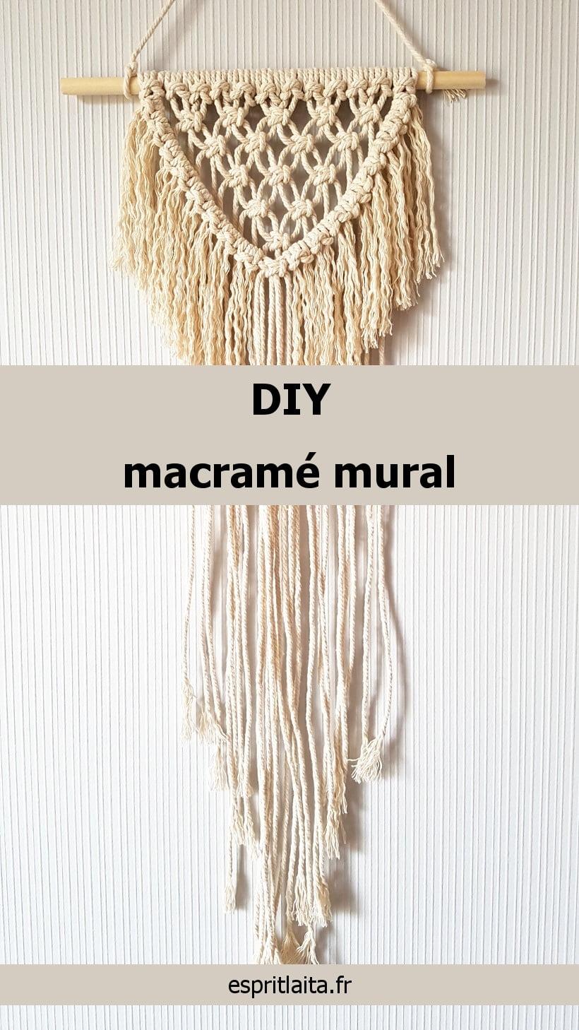 DIY wall hanging - Tuto macramé mural facile débutant