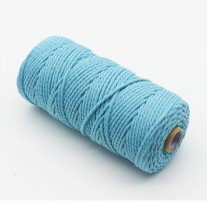 cordon macrame bleu