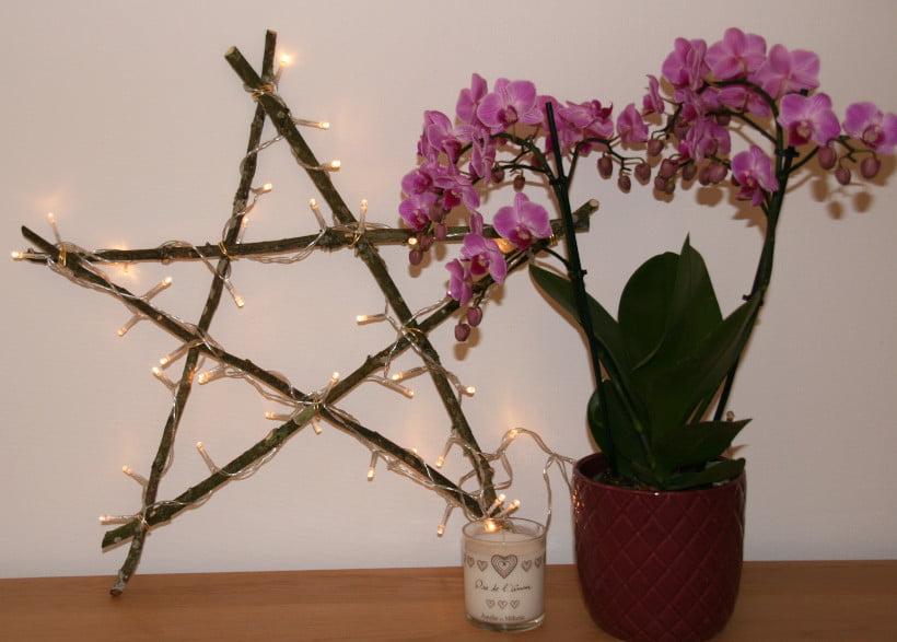 Tuto DIY étoile de Noël lumineuse. Avec ces petites guirlandes LED pas chère qu'on voit partout.