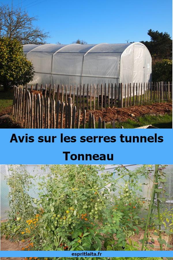 Avis et montage d'une serre tunnel Tonneau