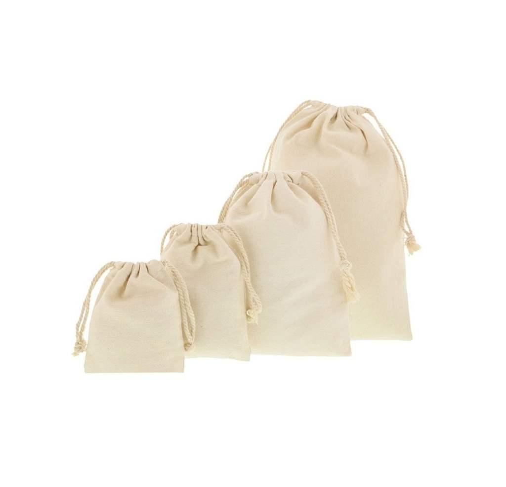 sacs en tissu couleur naturelle