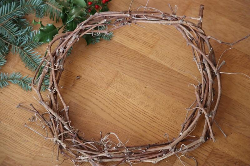 Tuto facile couronne de Noël