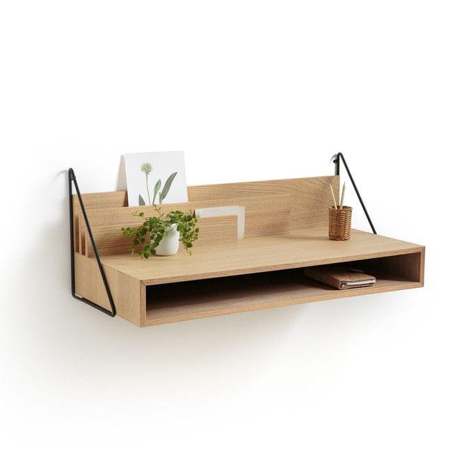 mini bureau à la maison attaché au mur
