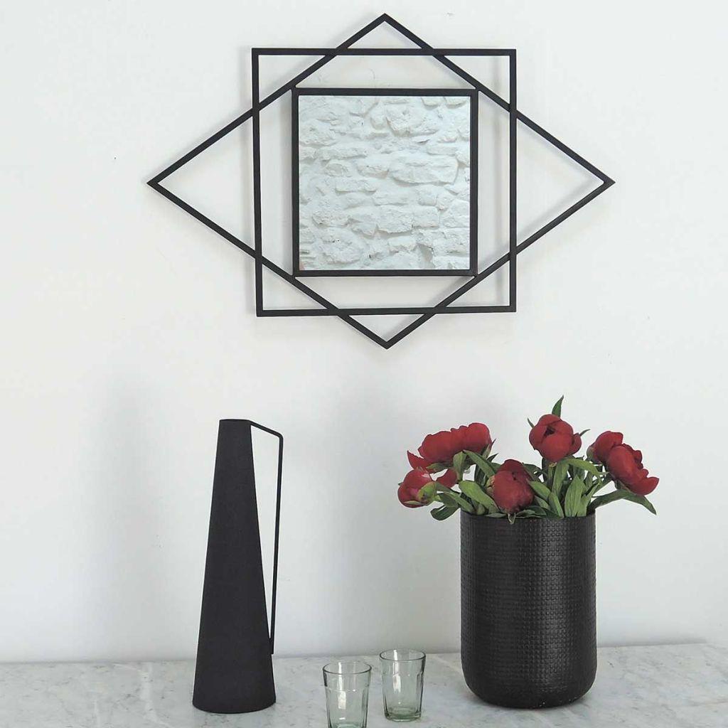 Miroir style Art Déco géométrique