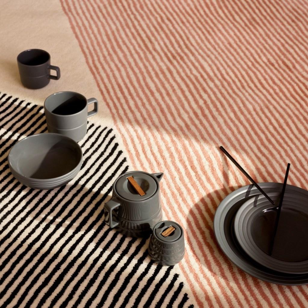 Tapetes grossos de lã