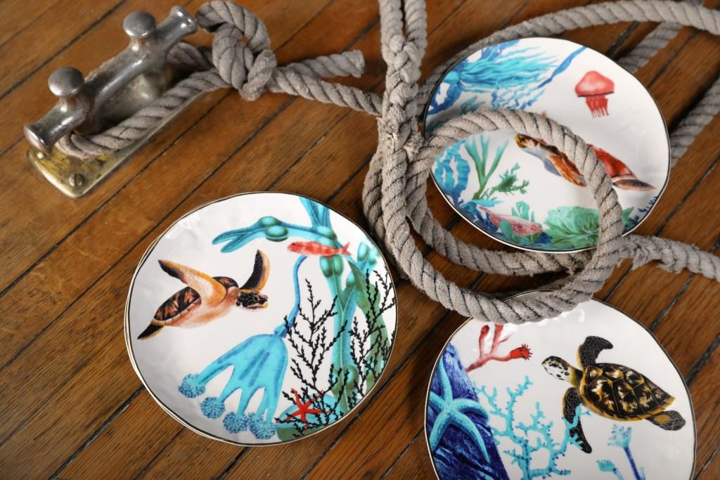 Jolie vaisselle à thème marin