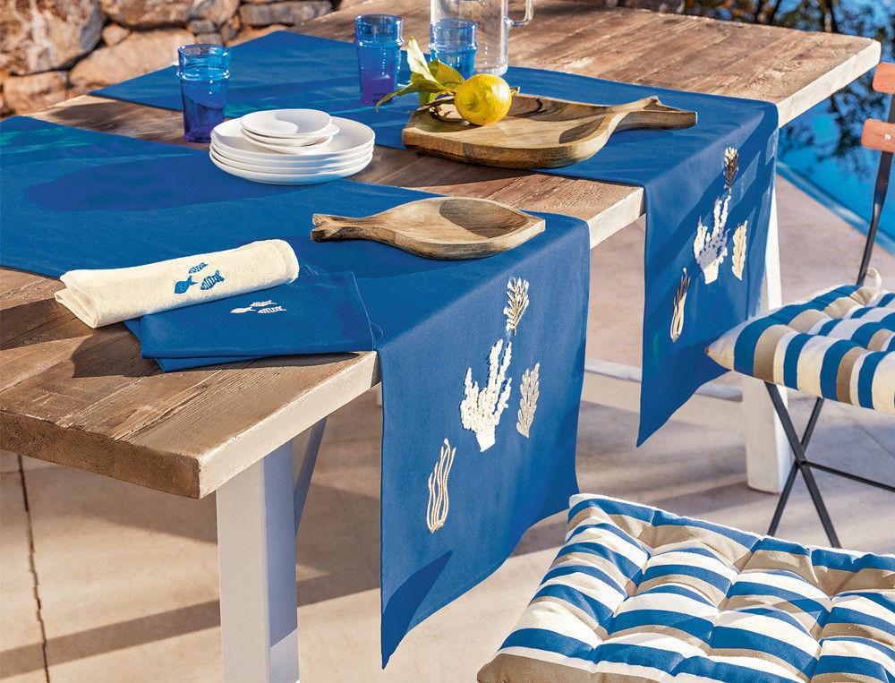 Set de table bleu à thème marin