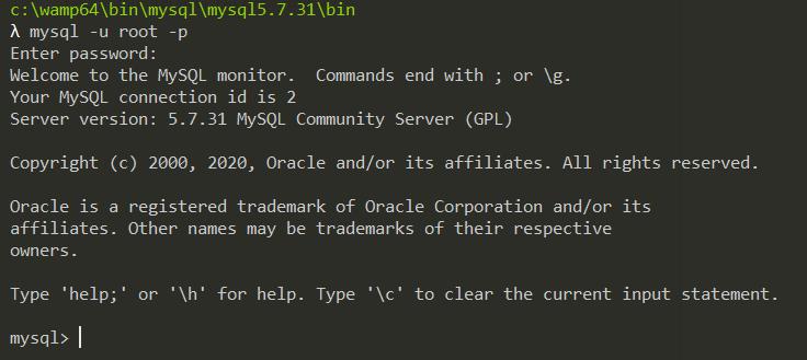 Se connecter à MySQL