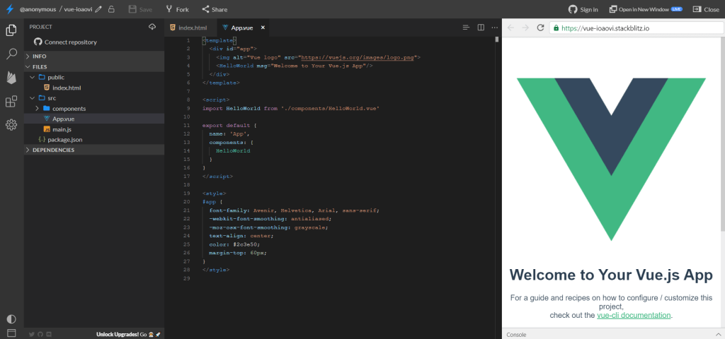 Codesandbox.io, l'éditeur de code en ligne pour tester rapidement un framework