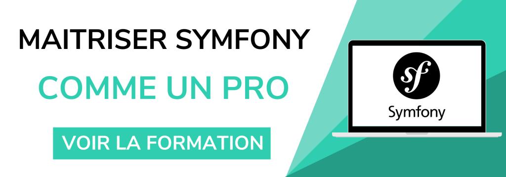 Bannière de promotion pour la formation symfony