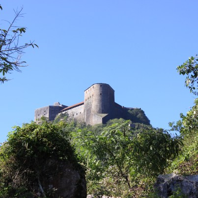 The view of the Citadelle as the team hiked up the mountain