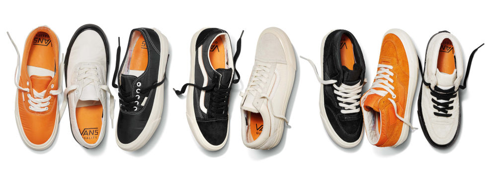 Sweden is nowhere close to California, but when Our Legacy was given the opportunity to collaborate on a collection for Vans, the brand turned to Orange County for inspiration. Vans is, after all, perhaps the most Californian brand in the world. Along with a collection of apparel, the two brands created eight different sneakers—including Old Skools, Authentics, and Half Cabs. Each shoe features a tonal combination of hairy suede and thick padded nylon, making for a unique textural mix.Release: 2/25$78 and up, vans.com