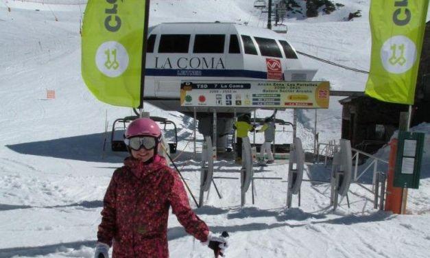 Esquiar en una pista Verde de 8 Km.