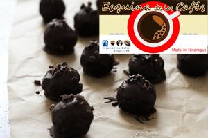 Trufas de chocolate oscuro