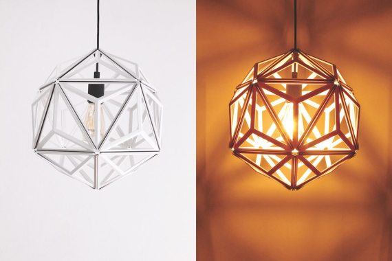 QL10249-WH Icosa Wireframe Lamp 1 lifestyle
