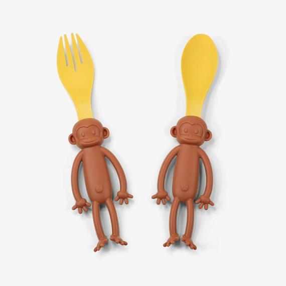 monkey spoon & fork product shot