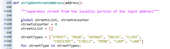 Geocoding in AGOL snippet