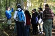 Matthew Aiello-Lammens teaches local high school students about plant identification