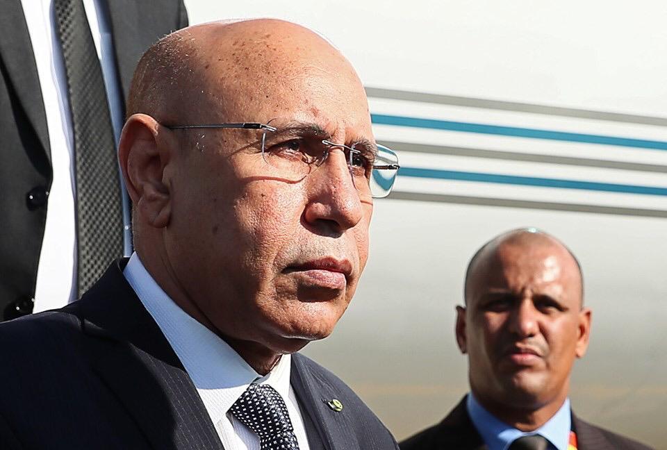 الرئيس محمد ولد الشيخ الغزواني لدى وصوله مطار سوتشي بروسيا