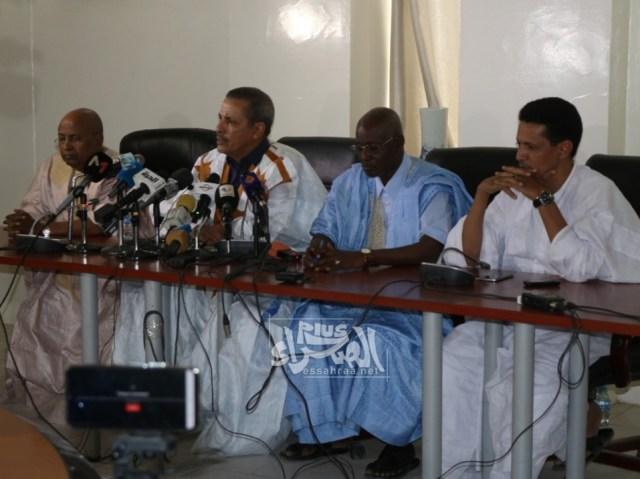 أعضاء في لجنة التحقيق البرلمانية في المؤتمر الصحفي - (المصدر: الصحراء)