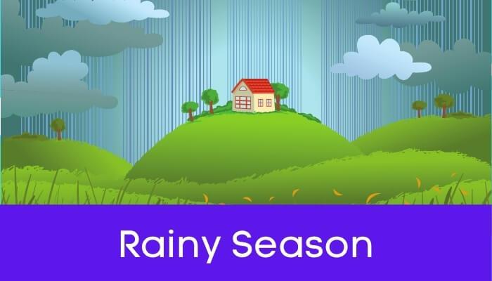 वर्षाऋतु हिंदी निबंध - Rainy Season Essay in Hindi