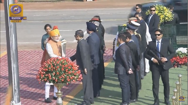 Arrival of PM at Rajpath