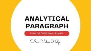 analytical paragraph class 10