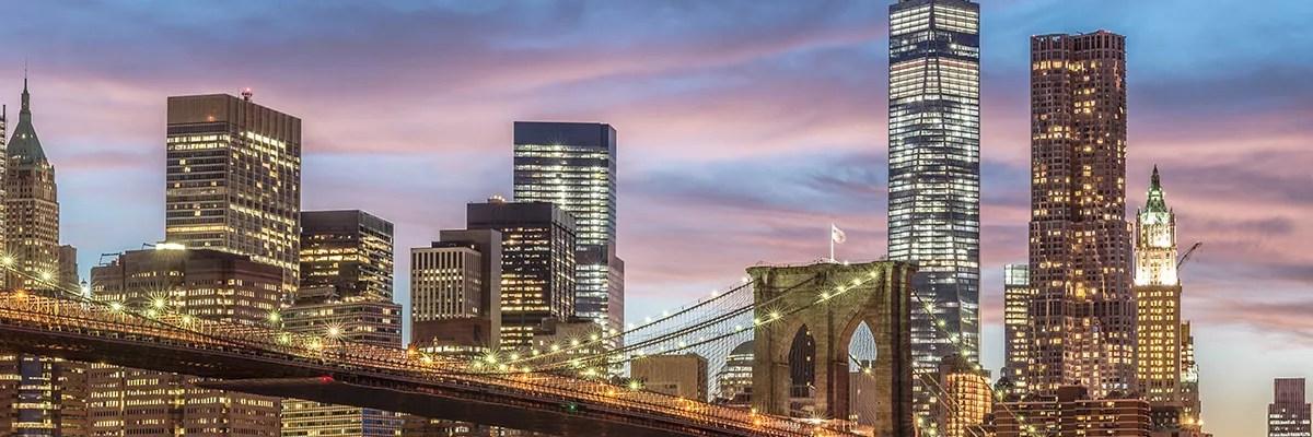 Brooklyn Bridge and View of Manhattan