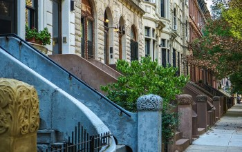 Rowhomes in Harlem, NYC