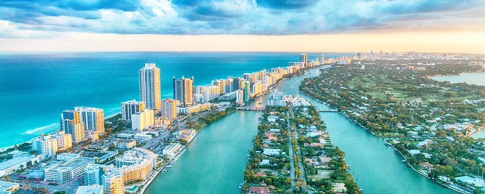 Skyline view of Miami Beach