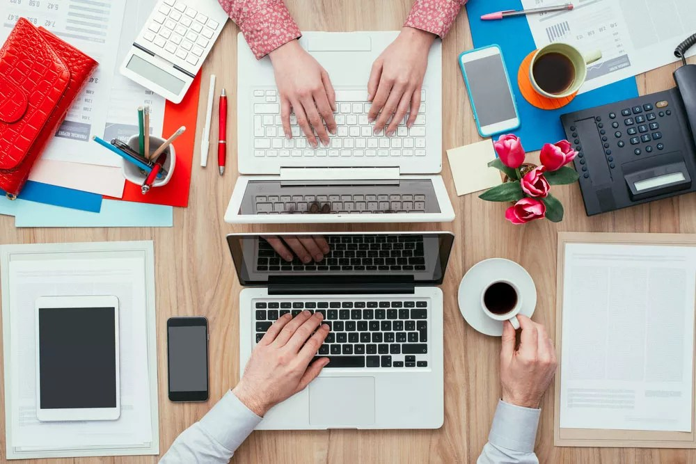 Desk small office space desk Office Nook Shared Office Ideas How To Design Small Office For Two Extra Space Storage Shared Office Space Ideas For Home Work Extra Space Storage