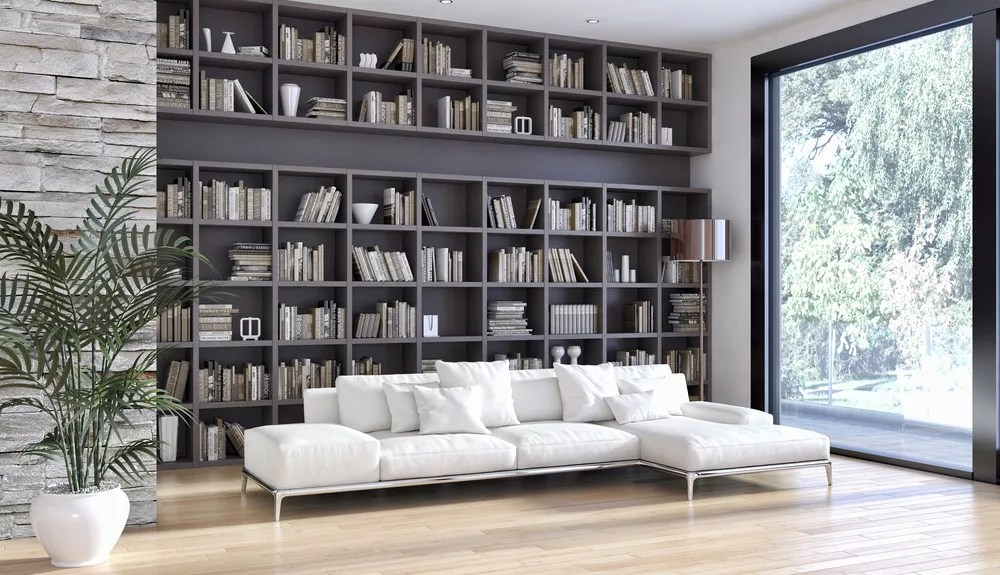 DIY Home Library Design & Organization Ideas via @extraspace