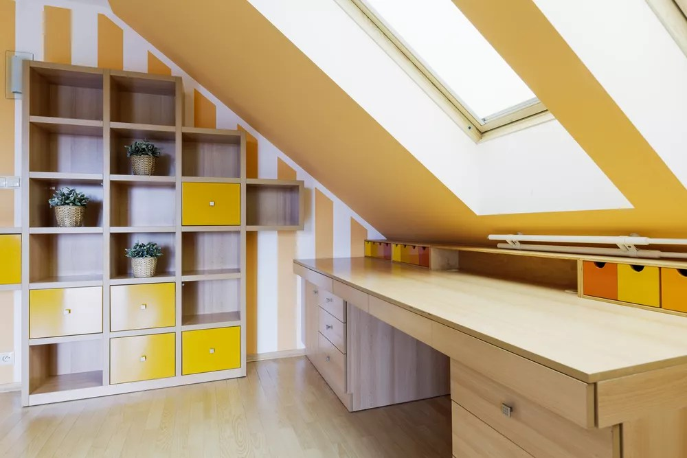 Bright organized attic space & How to Organize an Attic: Simple Tricks u0026 Tips | Extra Space Storage