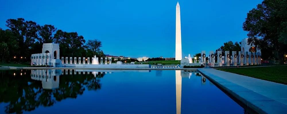 Washington monument at night in Washington, DC