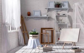 Bright home art studio