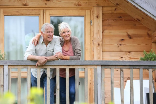 Senior couple enjoying life in smaller home