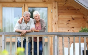 Senior couple enjoying life in smaller home