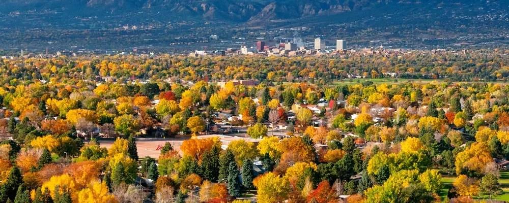Skyline view of Colorado Springs, CO