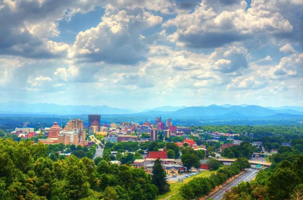 Asheville, North Carolina Skyline
