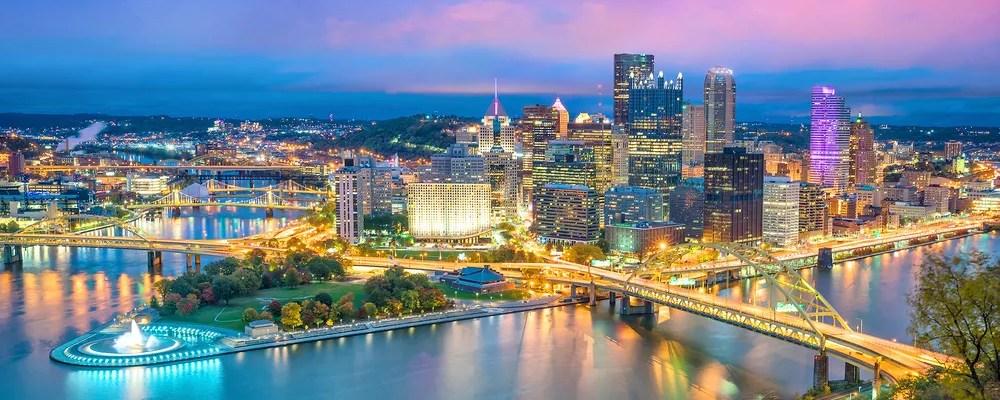 Skyline of Pittsburgh, PA
