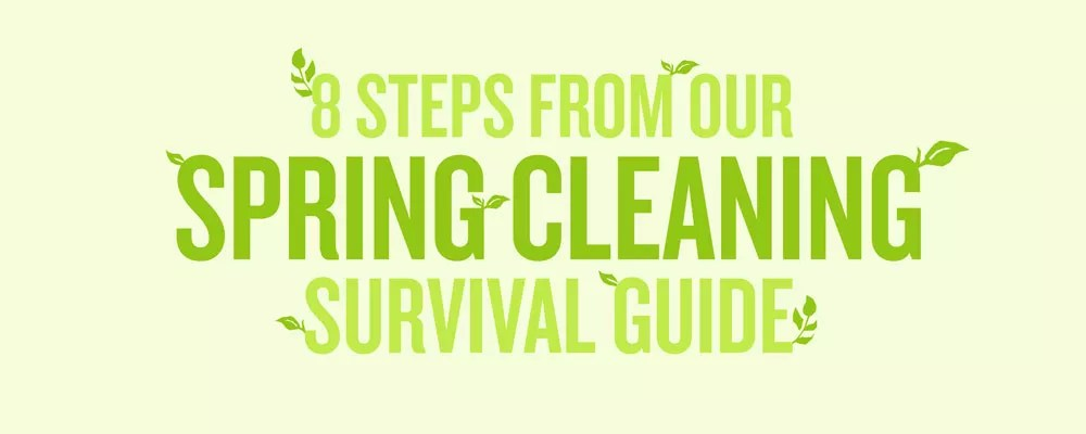 "Graphic titled ""8 Steps from Our Spring Cleaning Survival Guide"""