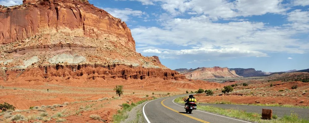 Motorcycle road trip through the canyon