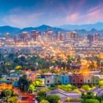 Aerial shot of Downtown Phoenix