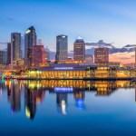 Tampa, FL skyline at night