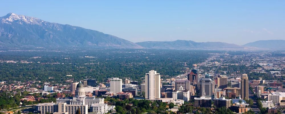 Skyline of buildings in Downtown SLC