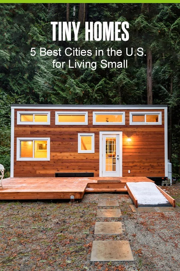 Wondering where you can build a tiny house or find a tiny home community? Check out these five best places in the U.S. for tiny home living in our guide! via @extraspace