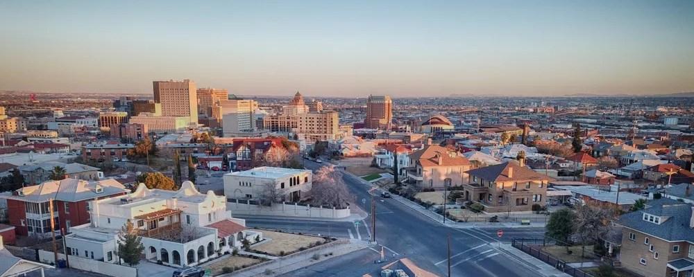 Skyline of buildings in Downtown El Paso.