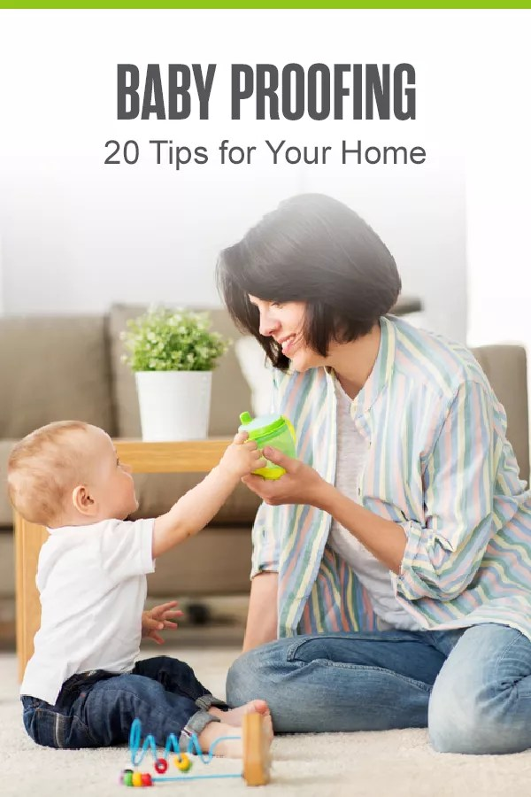 Want to create a safe space for your new baby? Check out these 20 helpful tips and tricks for baby proofing your home for your little one! via @extraspace