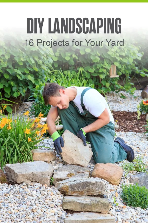 Want to improve curb appeal and give your landscape a makeover? Check out these simple DIY landscaping projects to freshen up your outdoor space! via @extraspace